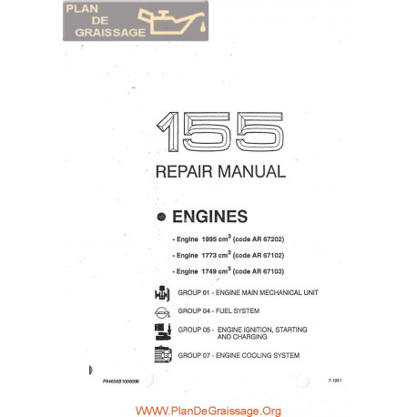 Alfa Romeo 155 Engine Repair Manual