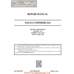 Dacia 1304 1305 1307 Pick Up 2004 Engine C3l Repair Manual