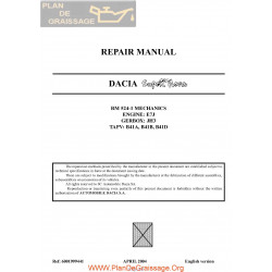 Dacia Super Nova 2004 Repair Manual