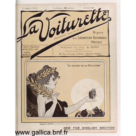 La Voiturette N1 25 Avril 1908