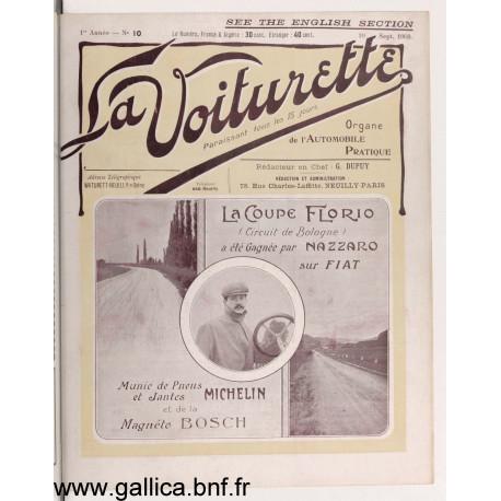 La Voiturette N10 English Section 10 Septembre 1908