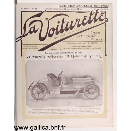 La Voiturette N11 English Section 25 Septembre 1908