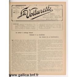 La Voiturette N12 10 Octobre 1908