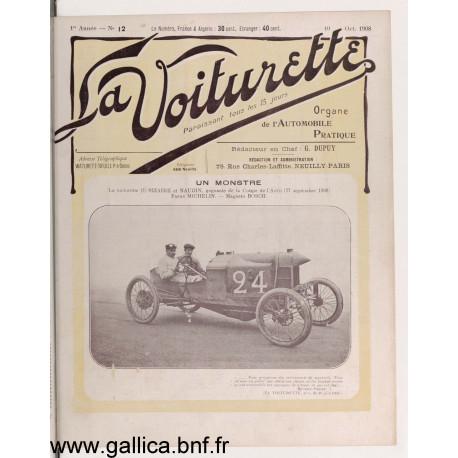La Voiturette N12 English Section 10 Octobre 1908