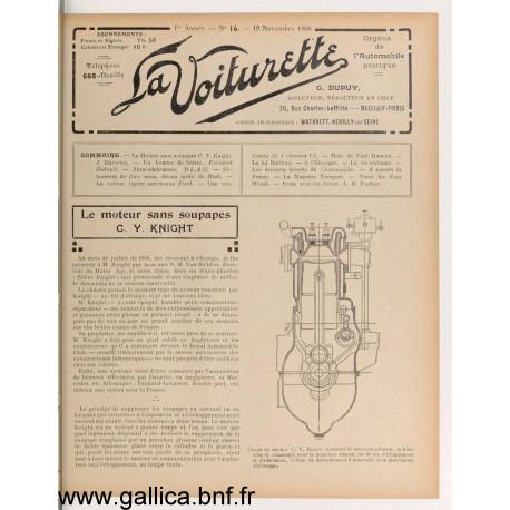 La Voiturette N14 10 Novembre 1908