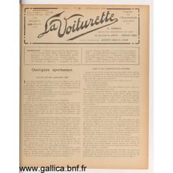 La Voiturette N15 25 Novembre 1908