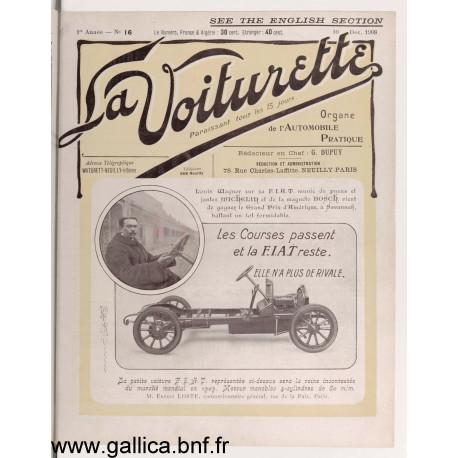 La Voiturette N16 English Section 10 Decembre 1908