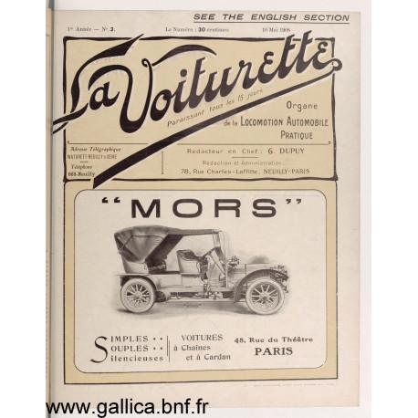 La Voiturette N2 English Section 10 Mai 1908