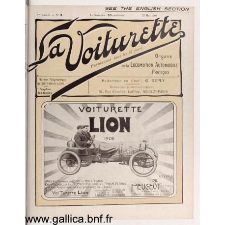 La Voiturette N3 English Section 25 Mai 1908