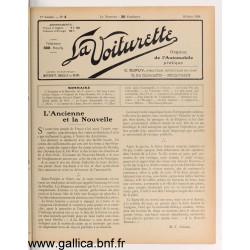 La Voiturette N4 10 Juin 1908