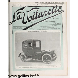La Voiturette N8 English Section 10 Aout 1908