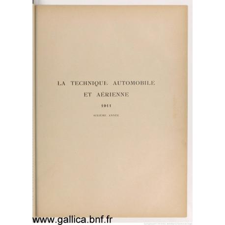 La Technique 1911 Automobile Et Aerienne 1911