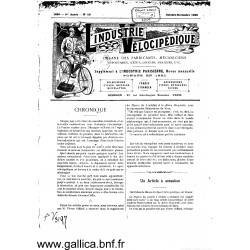 L Industrie Velocipedique 1890 Organe Des Fabricants Mecaniciens