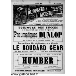 L Industrie Velocipedique 1895 Organe Des Fabricants Mecaniciens