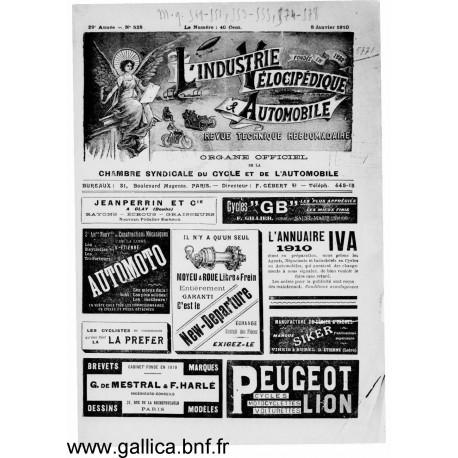 L Industrie Velocipedique 1910 Organe Des Fabricants Mecaniciens