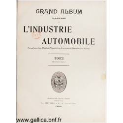 Grand Album Illustre 1902 De L Industrie Automobile Pour L Annee 1902