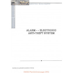 Alfa Romeo 164 Anti Theft System