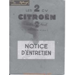 Citroën 2 Cv A Au Notice Entretien
