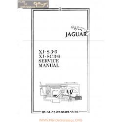Jagaur Xjs S3600 Sc3600 Service Manual
