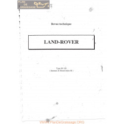 Land Rover Series 3 Type 88 109 Essence Diesel