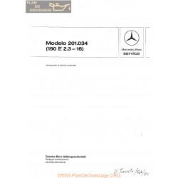 Mercedes 190e 2300 16 Model201034 Service 1985