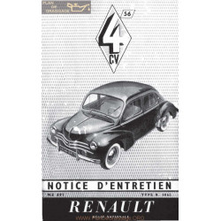 Renaulr 4cv Notice R1062 Ne691 1956