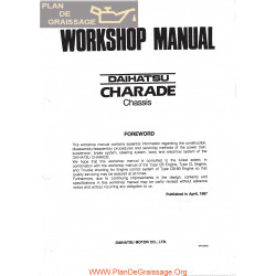 Daihatsu Charade 1987 Workshop Manual