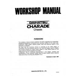 Daihatsu Charade Manuel Chassis