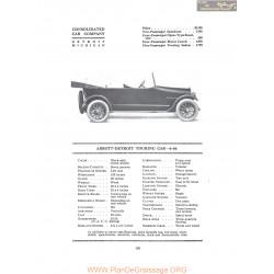 Abbott Detroit Touring Car 6 44 Fiche Info 1916