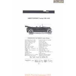 Abbott Detroit Touring Car 6 44 Fiche Info Mc Clures 1916