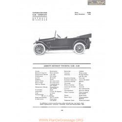 Abbott Detroit Touring Car 8 80 Fiche Info 1916