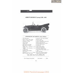 Abbott Detroit Touring Car 8 80 Fiche Info Mc Clures Mc Clures 1916