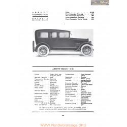 Abbott Sedan 6 44 Fiche Info 1917