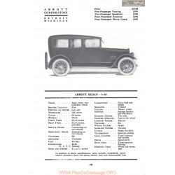 Abbott Sedan 6 44 Fiche Info Mc Clures 1917