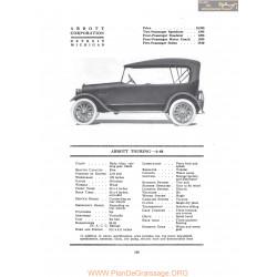 Abbott Touring 6 44 Fiche Info 1917