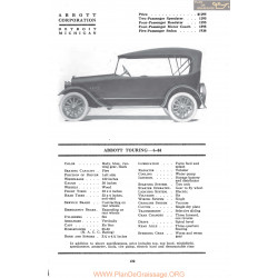 Abbott Touring 6 44 Fiche Info Mc Clures 1917