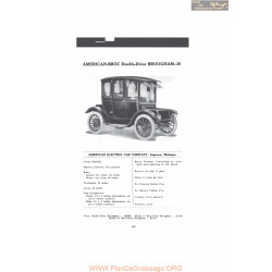 American Broc Double Drive Brougham 36 Five Persons Fiche Info 1916
