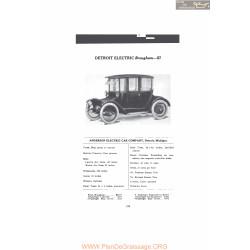 Anderson Detroit Electric Brougham 57 Fiche Info Mc Clures 1916