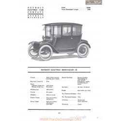 Anderson Detroit Electric Brougham 81 Fiche Info 1920