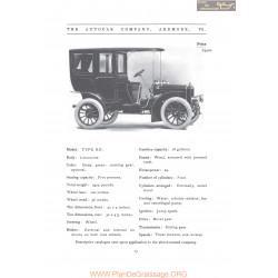 Autocar Type Xii Limousine Fiche Info 1906