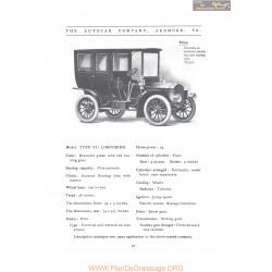 Autocar Type Xii Limousine Fiche Info 1907
