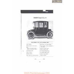 Baker Coupe D A 6 Fiche Info 1916