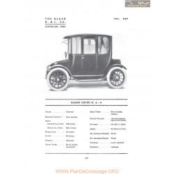 Baker Coupe Da6 Fiche Info 1916