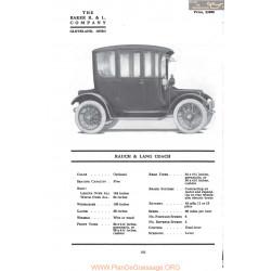 Baker Rauch & Lang Coach Fiche Info Mc Clures 1917