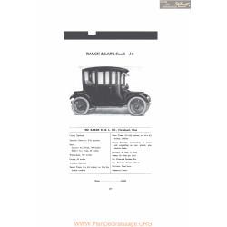 Baker Rauch & Lang Coach J6 Fiche Info 1916 V2