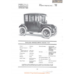 Baker Raulang Double Drive Coach C 45 Fiche Info 1920