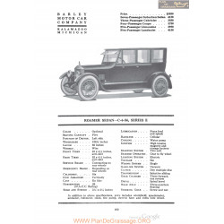 Barley Roamer Sedan C 6 54 Series E Fiche Info 1920