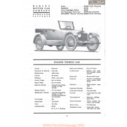 Barley Roamer Touring Car Fiche Info 1917