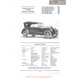 Barley Roamer Touring Fiche Info 1922