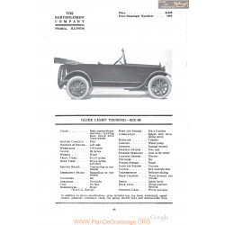 Bartholomew Clide Light Touring Six 40 Fiche Info 1918